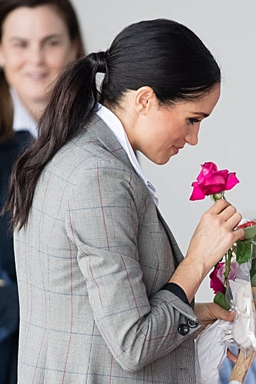 Meghan Markle Australia Royal Tour Ponytail October 2018