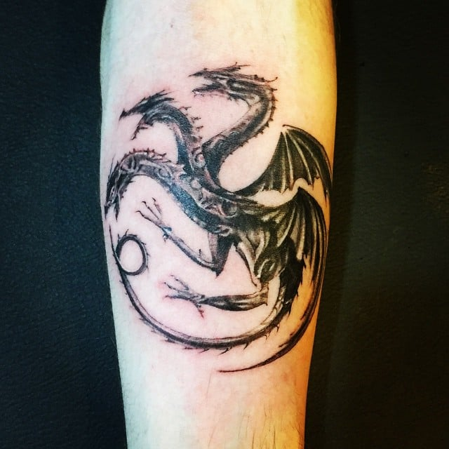 Black And White Dragons 20 Fierce Game Of Thrones Tattoos That Are