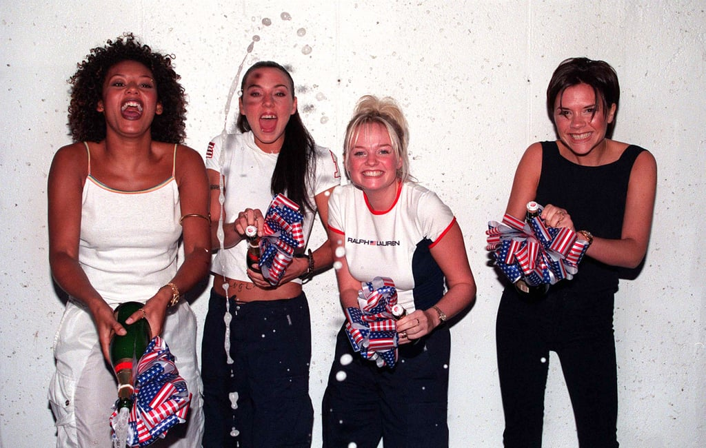 The Spice Girls celebrated their hit Viva Forever reaching No. 1 from Indianapolis in January 1998.