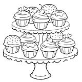 Get the coloring page: Cupcakes