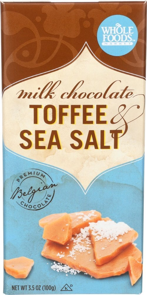 Milk Chocolate Bar Toffee & Sea Salt