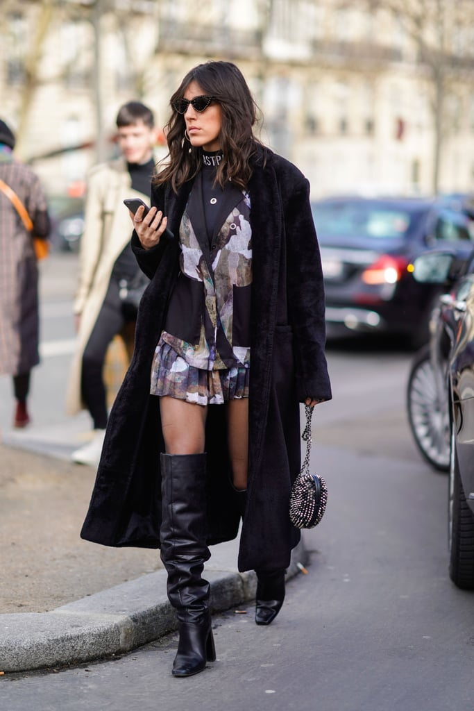 Show off Some Skin in a Blazer Dress and Over-the-Knee Boots