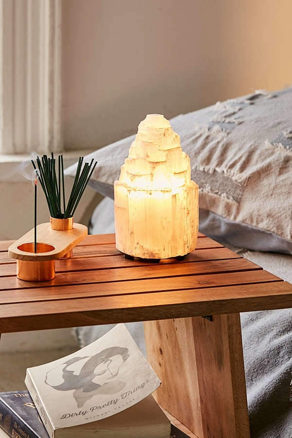 Urban Outfitters Selenite Crystal Lamp