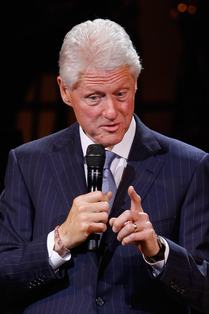 Bill Clinton gave a speech at the Revlon Concert for the Rainforest Fund at Carnegie Hall in NYC.