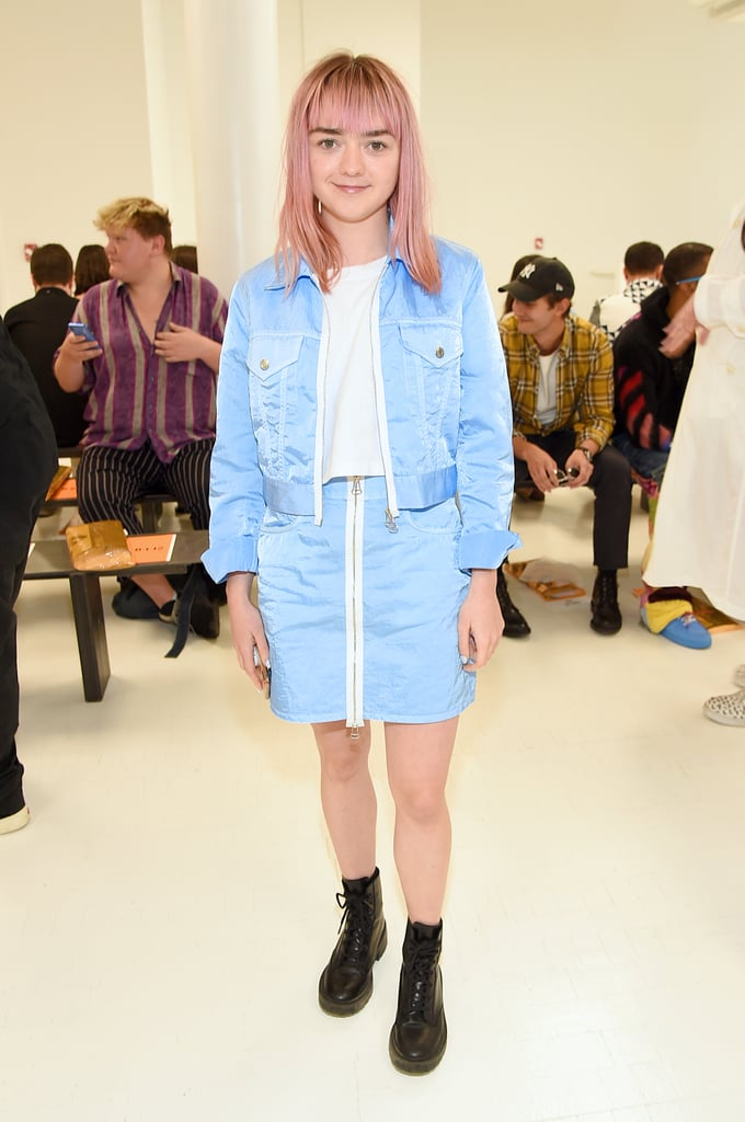 Maisie Williams at the Helmut Lang New York Fashion Week Show