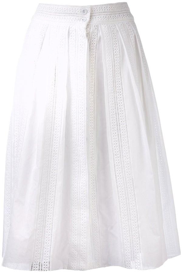 Sea White Full Skirt