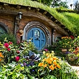While you can't go inside a hobbit hole, the colorful front gardens offer a lot of charm.