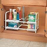 InterDesign Under Sink Organizer With Adjustable Shelf Silver