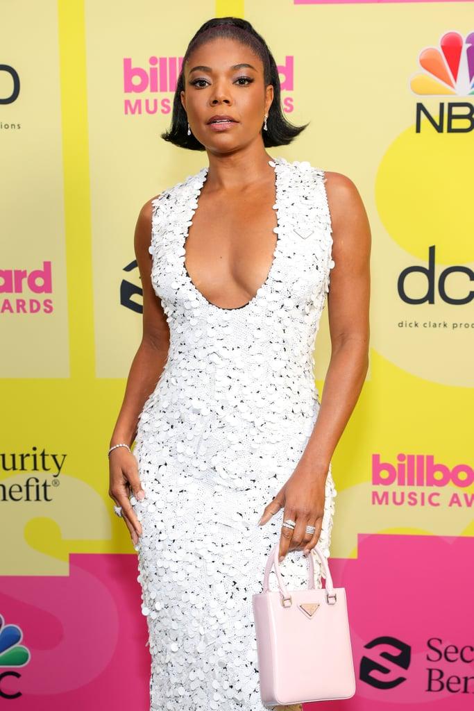 Gabrielle Union's White Prada Dress at 2021 Billboard Awards