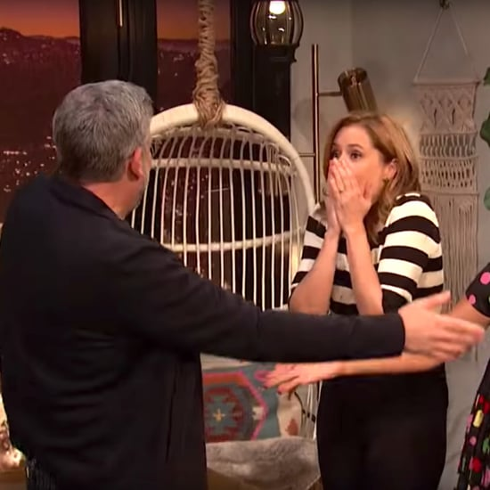 Steve Carell Surprises Jenna Fischer on Busy Tonight Video