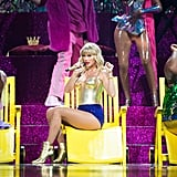 """In addition to urging her fans to vote, Taylor also spoke up about LGBTQ+ rights. She donated $113,000 to the Tennessee Equality Project, she used her performances as an opportunity to show her support for the LGBTQ+ community, and she even created a Change.org petition in an effort to pass the Equality Act.  She also voiced her support for the LGBTQ+ community through her song """"You Need to Calm Down."""" Not only does the music video make reference to the GLAAD organisation and pride parades, but it's also a celebration of the LGBTQ+ community with rainbow imagery and numerous cameos from LGBTQ+ stars."""