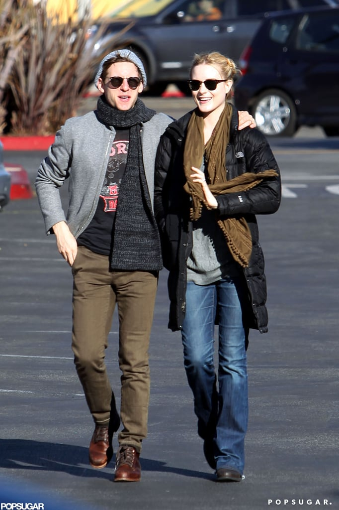 "Evan Rachel Wood and her husband, Jamie Bell, headed to a Whole Foods in LA yesterday. The couple were bundled up from the Winter cold in warm jackets and scarves as they made their way through the parking lot. Earlier this month, Evan and Jamie announced that they are expecting their first child. Evan told her fans on Twitter, ""Thanks for all your warm wishes. We are very happy. I'm gonna be a mama!"" In addition to having a baby on the way, Evan also has several movies coming out this year, including The Necessary Death of Charlie Countryman alongside Shia LaBeouf. Currently, though, Evan is busy filming 10 Things I Hate About Life with Thomas McDonell and showed off her growing bump on set in Malibu last week."