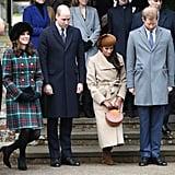 British Royal Family Christmas Church Service 2017
