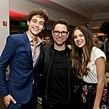 Pictured: Joshua Bassett, Tim Federle, and Olivia Rodrigo