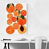 Peach Fruit Wall Art