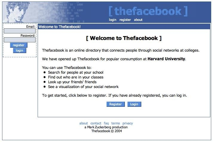 Facebook launched.