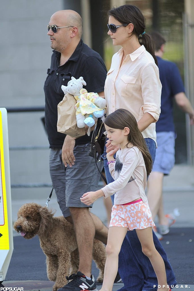 Katie Holmes and Suri Cruise left NYC's Chelsea Piers yesterday with a new companion — the girls hopped into their car with a new dog! Whether or not the pet is theirs to keep, Katie and Suri are settling into life in the Big Apple before school begins. They made the most of their Summer together, jetting to visit the Holmes family in Ohio and frequenting the jogging path by the West Side Highway so that Suri was able to learn to ride a bike. Suri also logged plenty of time with her dad, Tom Cruise, including a fun trip to Disney World in Florida.