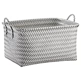 Large Woven Rectangular Storage Basket