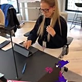Katie Couric as Ariana Grande Halloween 2018
