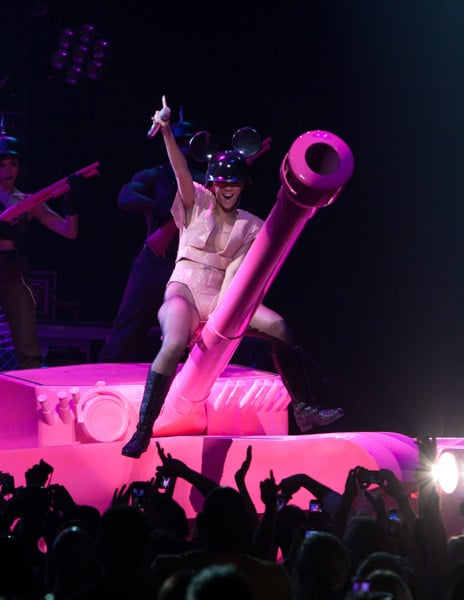 Photos of Rihanna on Stage in Fun Revealing Outfits