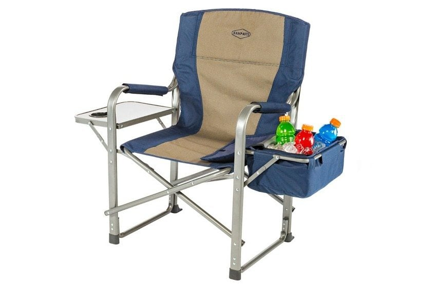 Kamp-Rite Directors Chair With Side Table & Cooler