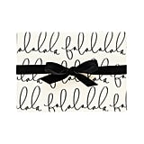 Falala Cream & Black Single Roll Gift Wrapping Paper