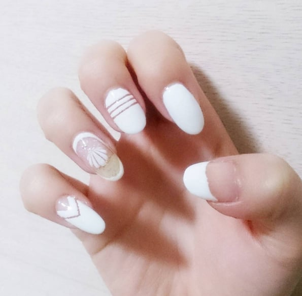 White Nail Art Ideas - White Nail Art Ideas POPSUGAR Beauty