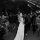 """""""Married in Chloé – Bar Refaeli wore our custom-made flou dress at her wedding in Israel, fitted and finished with the Maison's distinct touch of couture savoir-faire #chloeGIRLS,"""" Choé wrote on Instagram."""