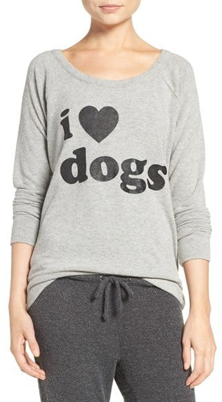 Chaser Women's I Love Dogs Pullover Top