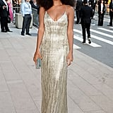 Solange Knowles channeled Diana Ross in a sequined column gown.