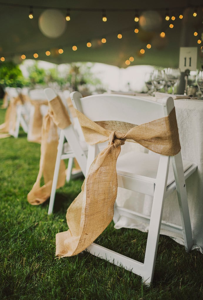 Burlap Chair Bows