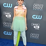 Kiernan Shipka's Delpozo Pants Critics' Choice 2018