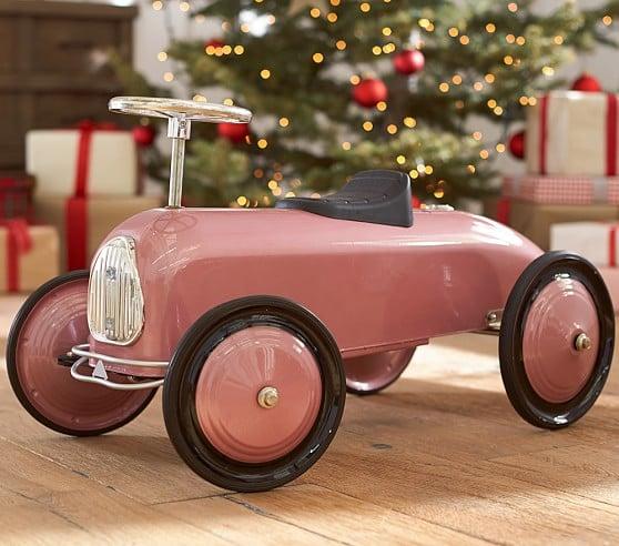Pottery Barn Metallic Pink Ride-On Car