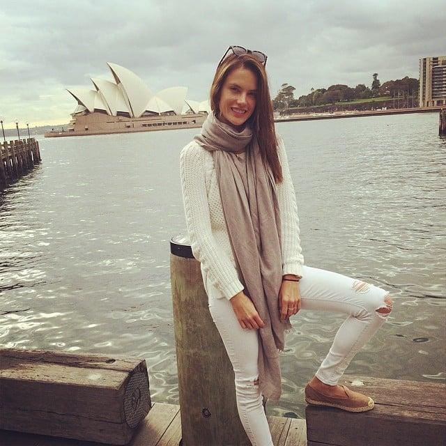 Alessandra Ambrosio had fun in Sydney. Source: Instagram user alessandraambrosio