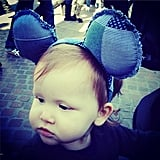 Haven Warren wore Mickey Mouse ears.  Source: Instagram user cash_warren
