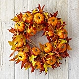 Williams Sonoma Maple Leaf Pumpkin Wreath