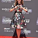 Once Upon a Time's Bailee Madison brought some love to the red carpet at the Young Hollywood Awards.