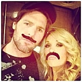 The duo got goofy with fake mustaches in 2013.
