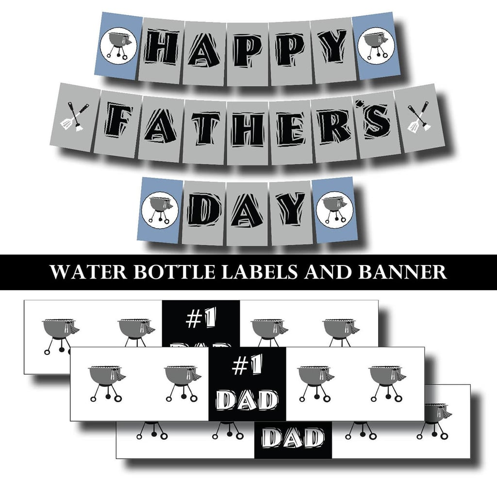 photo regarding Happy Father's Day Banner Printable titled Fathers Working day Barbecue Printables Printable Fathers Working day