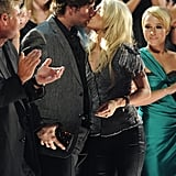 They shared a sweet kiss at the 2010 CMT Music Awards in Nashville.