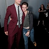 While Robert kept his suit on, Kristen changed into comfy jeans and a hoodie at the afterparty.