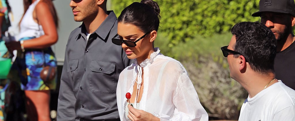 Kendall Jenner Glitter Heels Coachella 2019