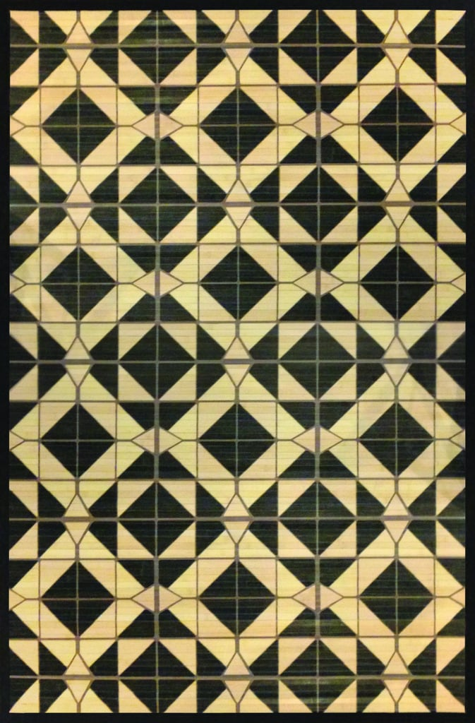 Black Tile Bamboo Area Rug ($56 for 4'x6')