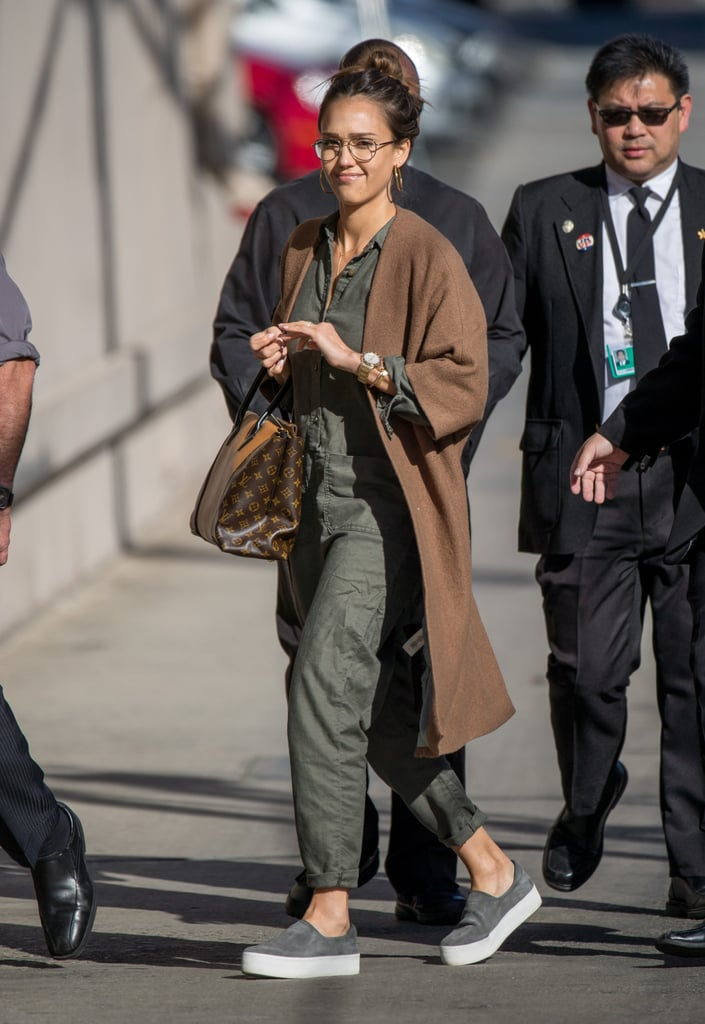 Jessica Alba's Outfit Looks Super Casual — Until You See Her Handbag