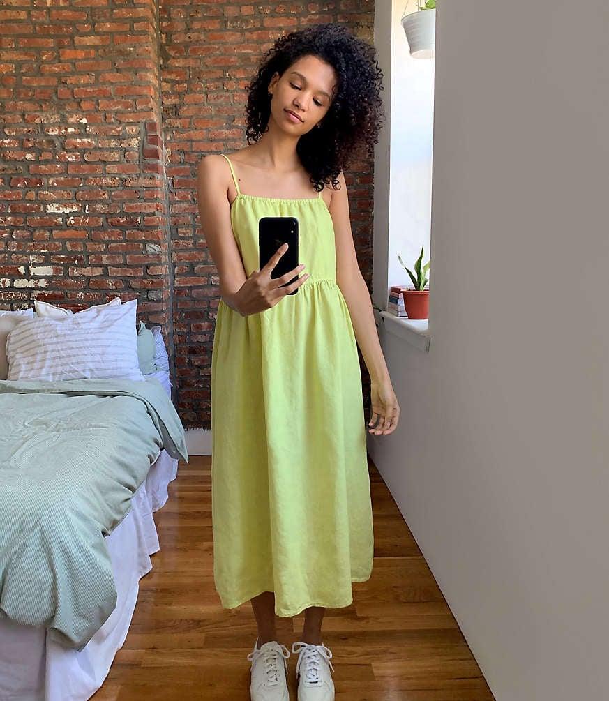 Lou & Grey Strappy Linen Midi Dress