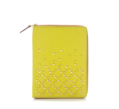 Be&D Lime Green Studded iPad Case ($220, on sale for $110)