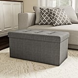 Large Folding Storage Bench Ottoman