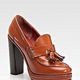 Marc by Marc Jacobs Stacked Leather Penny Loafer Pump ($390)