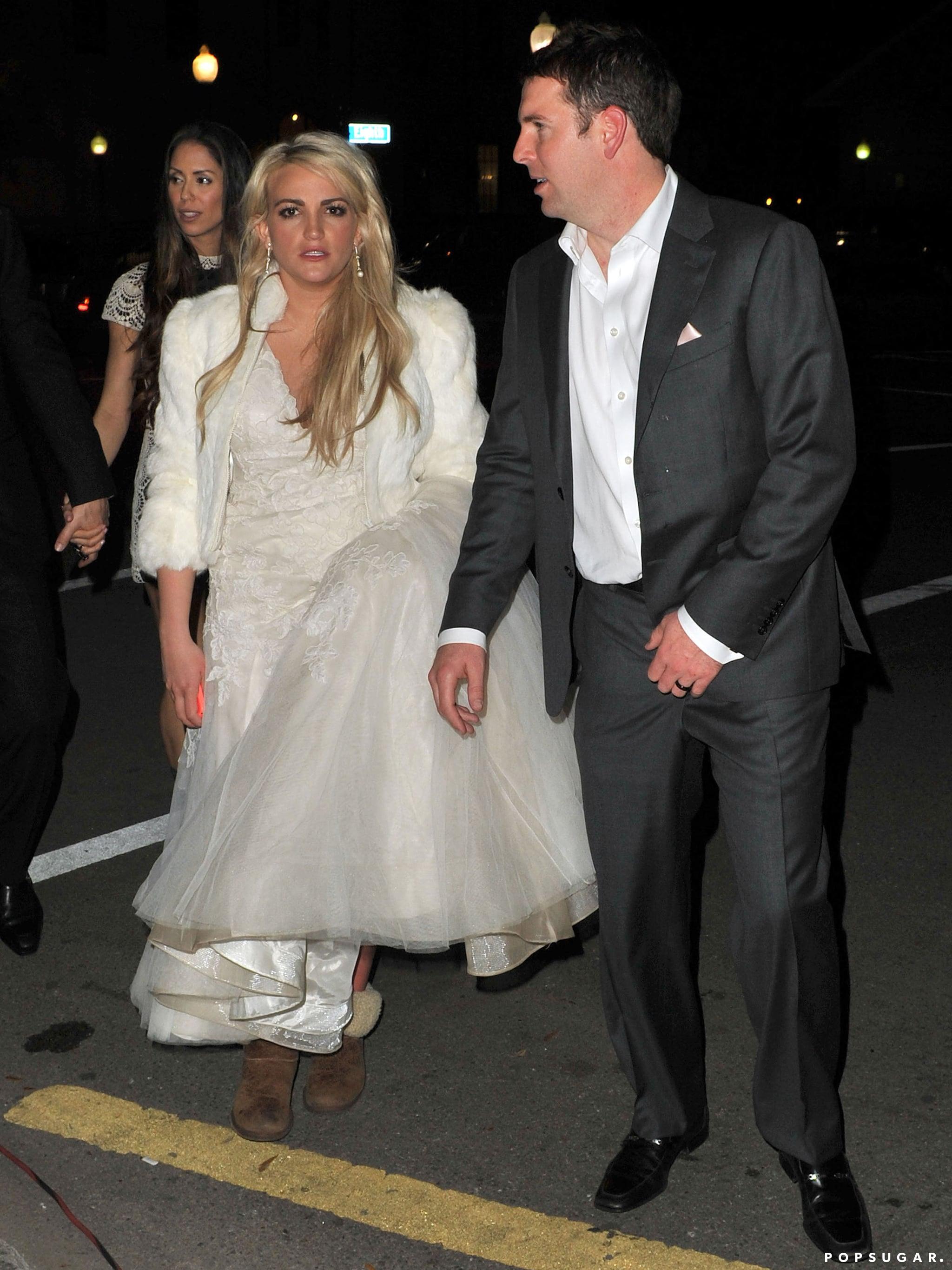 Like a True Spears Girl, Jamie Lynn Pairs Her Wedding Dress With Uggs