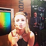 Hayden Panettiere shared a kissy face at the Golden Globes. Source: Instagram user goldenglobes